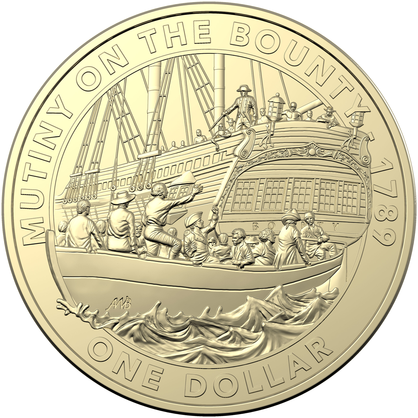 2019 $1 Mutiny and Rebellion – The Bounty 1789 Uncirculated Coin