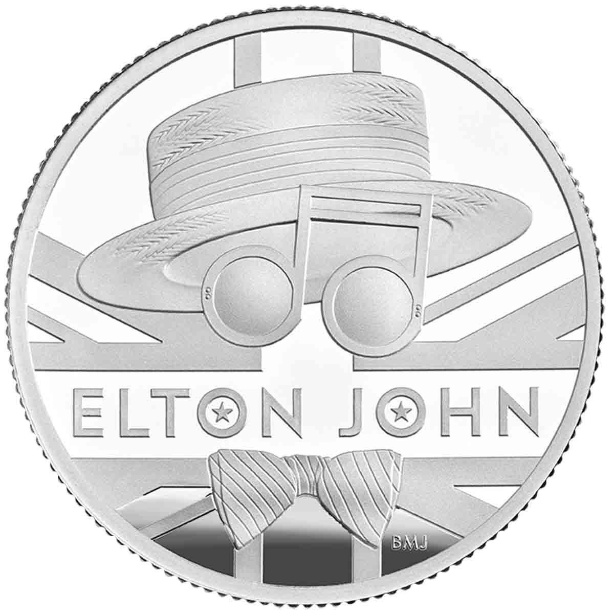 2020 £1 Elton Jon 1/2 Oz Silver Proof Coin