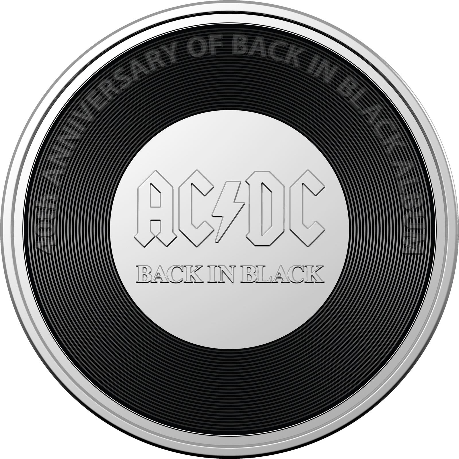 2020 20c AC/DC 45th Anniversary of the Australian release of Back In Black Coloured  UNC