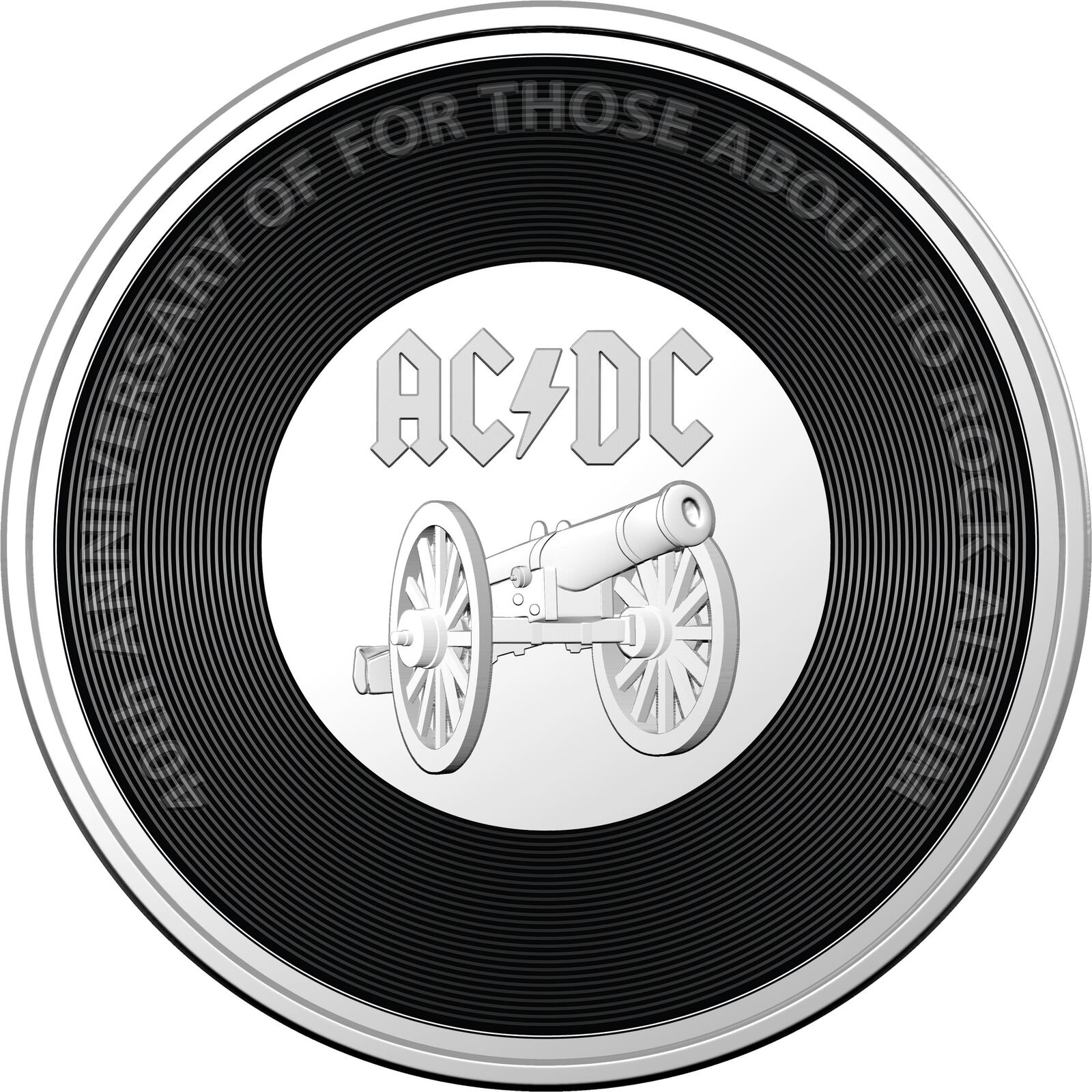 2021 20c AC/DC 45th Anniversary of the Australian release of For Those About To Rock We Salute You Coloured  UNC
