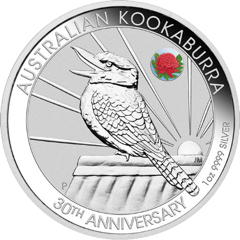 2020 $1 Waratah Privy Mark 1 Oz Kookaburra Coloured Silver BU Coin Sydney ANDA Money Expo