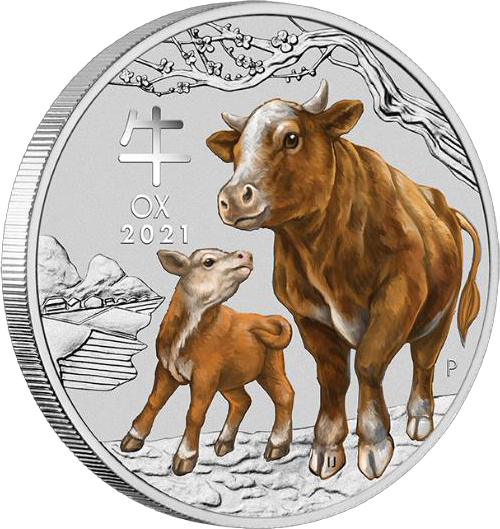 2020 Year of the Ox 1/4 oz Coloured Silver Proof Coin ANDA