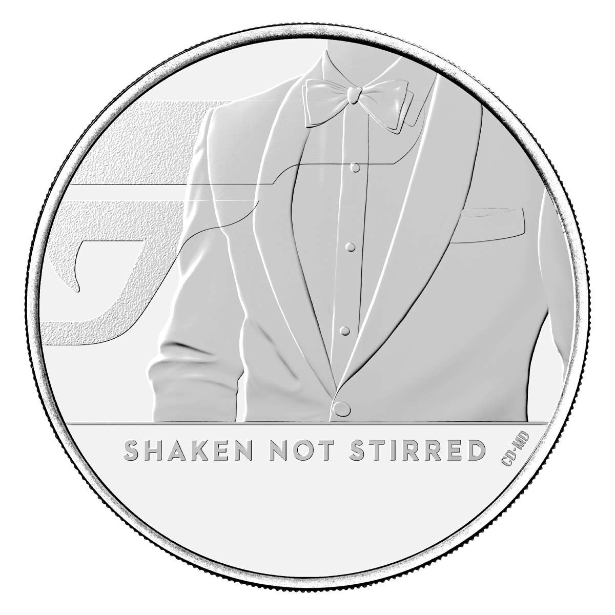 2020 £5 James Bond Shaken Not Stirred Brilliant Uncirculated Coin