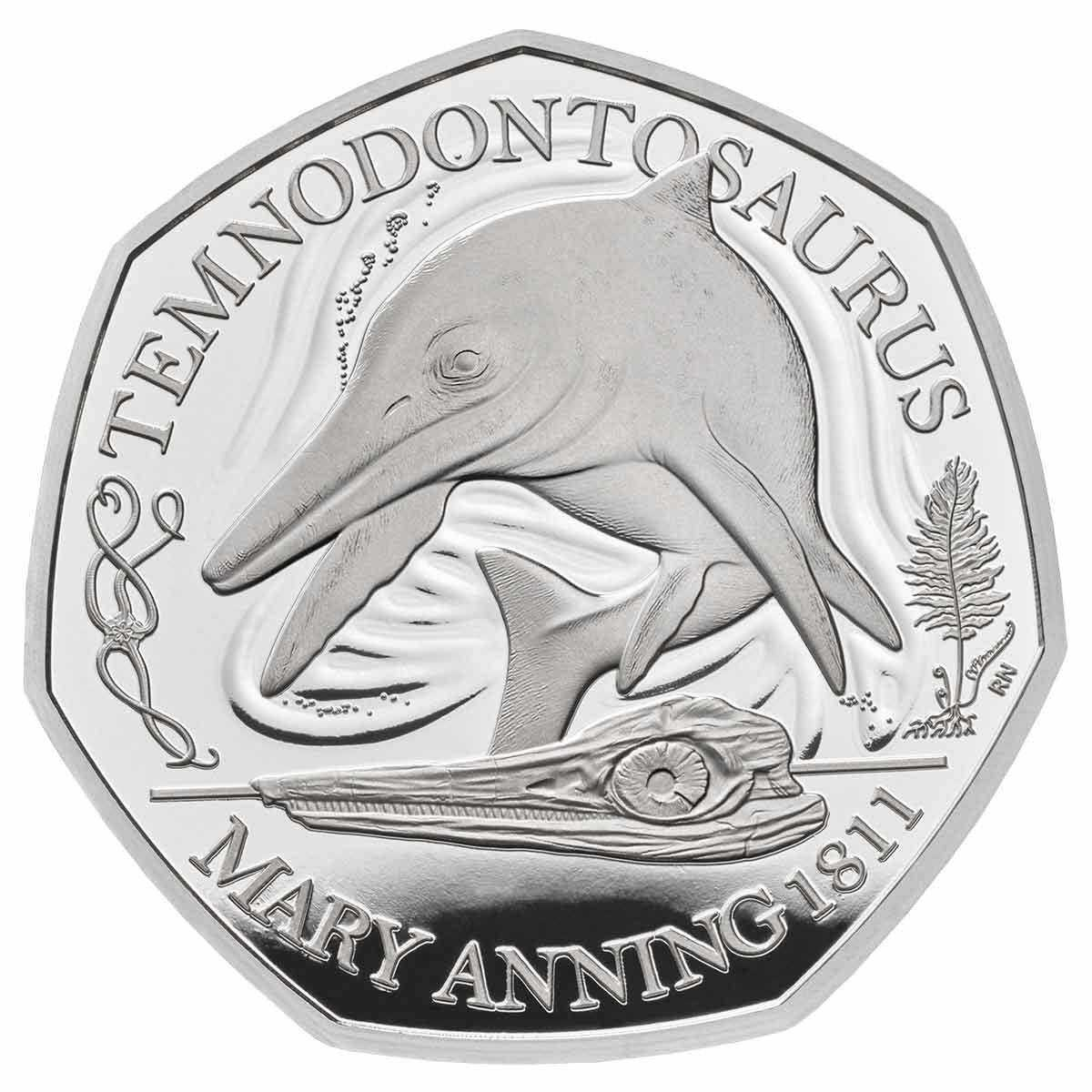 2021 Temnodontosaurus 50p Silver Proof Coin