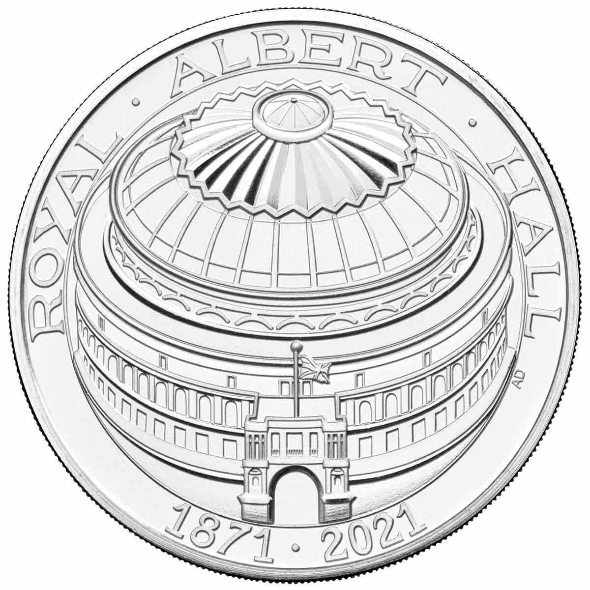 2021 £5 150 Years of the Royal Albert Hall Copper-Nickel Brilliant UNC