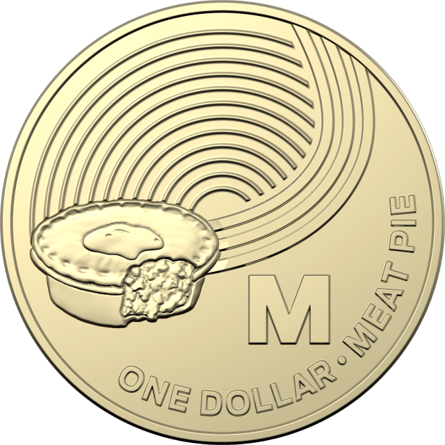 2019 $1 Letter 'M' for Meat Pie Uncirculated