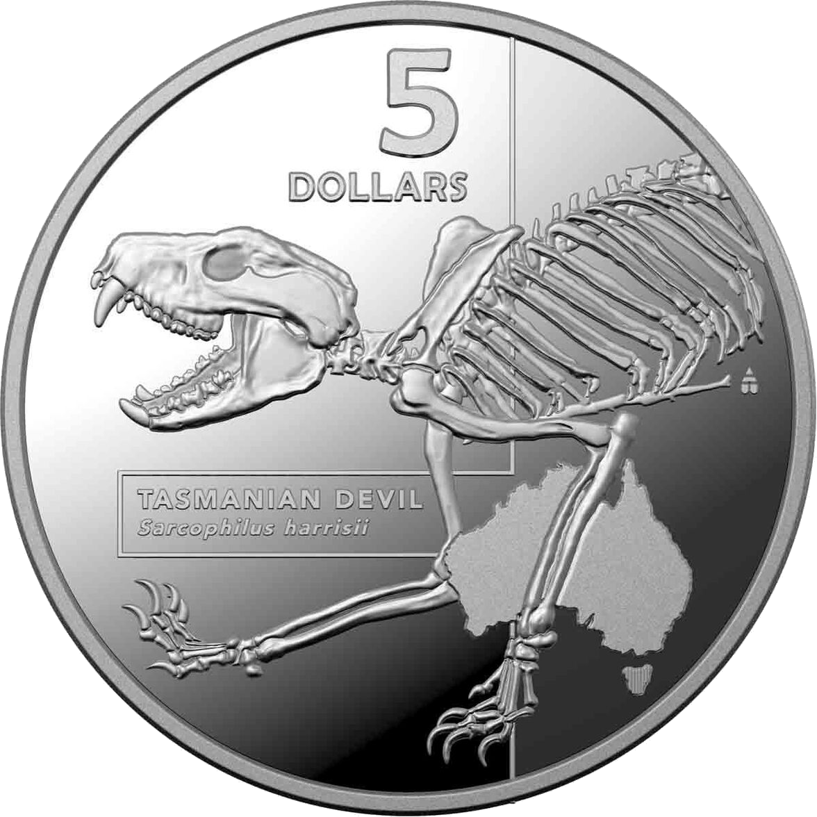 2020 $5 Tasmanian Devil - Inside Australias Most Dangerous 1 Oz Fine Silver Proof Coin