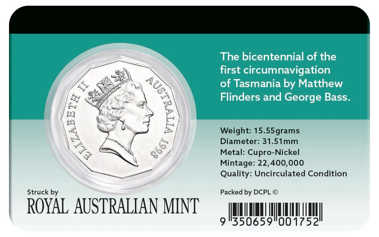 1998 50c Bass & Flinders Coin Pack
