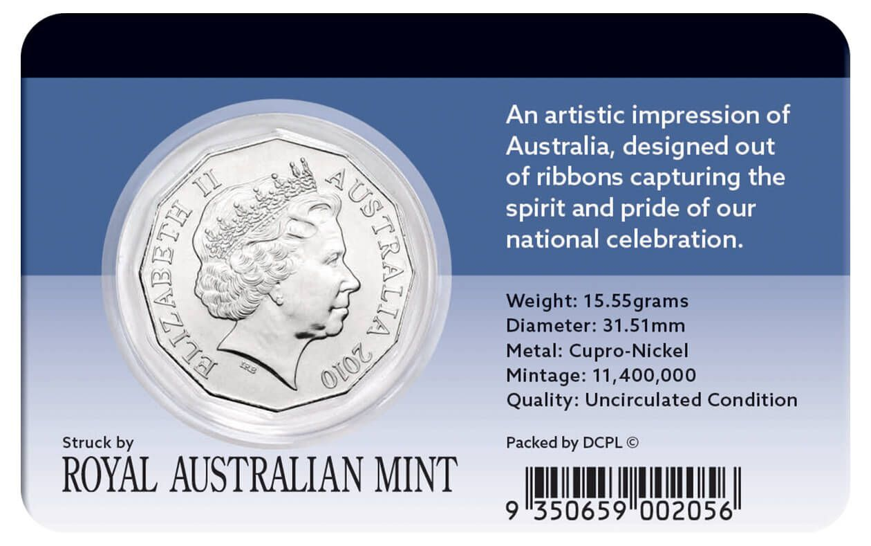 2010 50c Australia Day Coin Pack