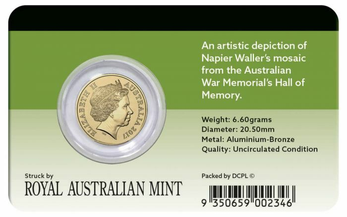 2017 $2 ANZAC DAY Lest We Forget Coin Pack