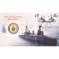 2011 $1 Centenary of Royal Australian Navy (RAN) PNC