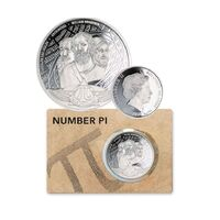 2020 $3.14c  Number Pi 1oz Silver Proof Coin