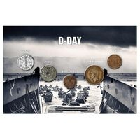 WWII D-Day Allies & Axis 5 Coin Set