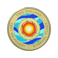 2018 $2 Eternal Flame  - Lest We Forget Multi Coloured Uncirculated Coin