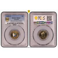 MS67 2020 C Mintmark $2 75th Anniversary End Of WWII PCGS