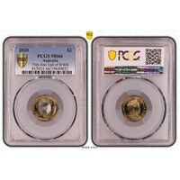 MS66 2020 $2 75th Anniversary End Of WWII PCGS