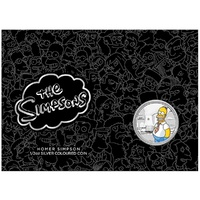 2020 50c The Simpsons - Homer 1/2oz Silver Brilliant Uncirculated Coin in Card