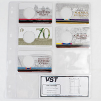 VST Coin Album Pages Pockets: 8 Pocket