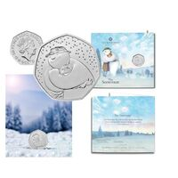 2020 50p The Snowman  Brilliant Uncirculated Coin