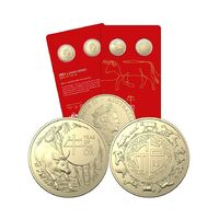 2020 $1 Year of the Ox Fu Lu Shou 2 Coin Set