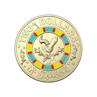 2019 $2 Mr Squiggle 60th Anniversary Multi Coloured Uncirculated Coin
