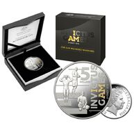 2018 $5 Invictus Games Selectively Gold Plated Silver Proof Coin