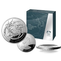 2020 $1 Tokyo Olympic Games Australian  Team 1 Oz Silver Proof Domed Coin