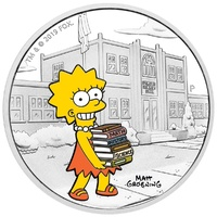 2019 $1 The Simpsons - Lisa 1oz Silver Proof Coin
