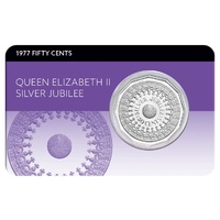 1977 50c Queen Elizabeth II Accession Silver Jubilee Coin Pack