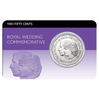 1981 50c Royal Wedding Lady Diana & Charles Coin Pack
