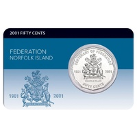 2001 50c Federation Norfolk Island Coin Pack