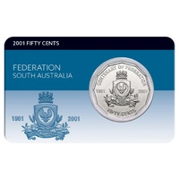 2001 50c Federation South Australia Coin Pack
