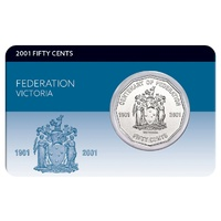 2001 50c Federation Victoria  Coin Pack