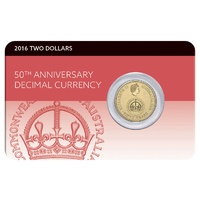 2016 $2 50th Anniversary Of Decimal Currency Coin Pack