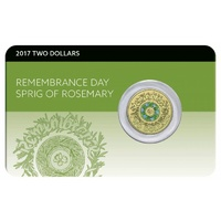 2017 $2 Remembrance Day Rosemary Sprig Coin Pack
