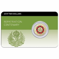 2019 $2 Repatriation Centenery Coin Pack