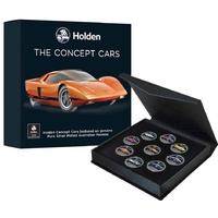 Holden The Concept Cars silver Plated Enamelled Penny Collection