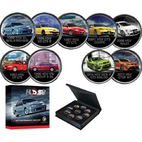Holden HSV Enamelled Penny 9 Coin Collection