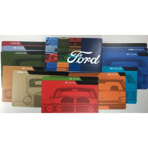 Labelled Ford Coin Dividers + Ford Information Booklet From The 2017 FORD AUSTRALIAN CLASSICS.(Needed To Complete Set)