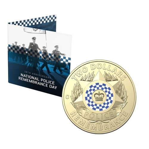 2019 $2 C Mintmark National Police Remembrance Day 30th Anniversary