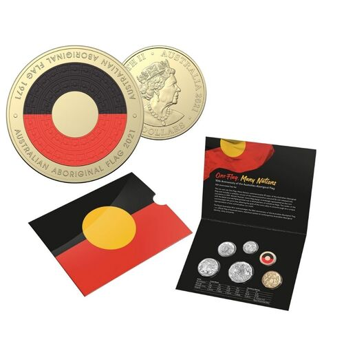 2021 50th Anniversary Of The Australian Aboriginal Flag UNC 6 Coin RAM Mint Set