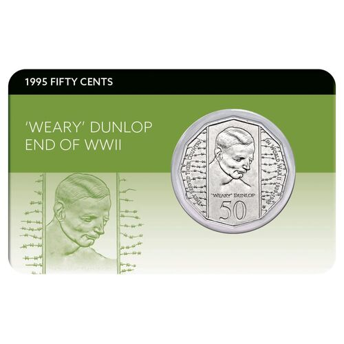 1995 50c Weary Dunlop Coin Pack
