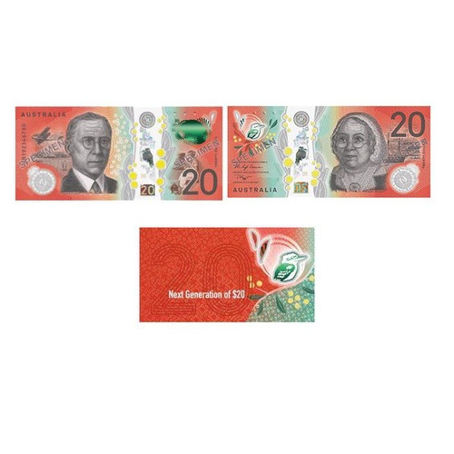 2019 $20 Next Generation RBA Uncirculated Banknote Folder